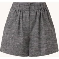 Maje Incia high waist straight fit korte broek met ruitdessin