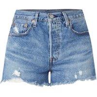 Levi's 501 High waist jeans shorts met gerafelde zoom
