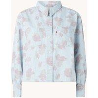 Levi's Zoey cropped blouse van denim met bloemenprint