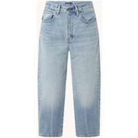 Levi's Barrel high waist tapered fit cropped jeans met lichte wassing