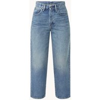 Levi's The Column high waist straight fit cropped jeans met medium wassing