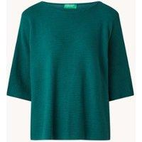 Benetton Fijngebreide pullover met split