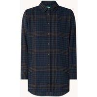 Benetton Longline blouse met ruitdessin