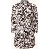 Gerry Weber Longline blouse met print en strikceintuur
