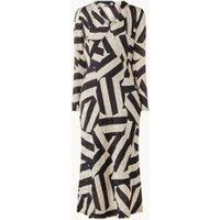 Expresso Babette maxi jurk met overslag en grafische print