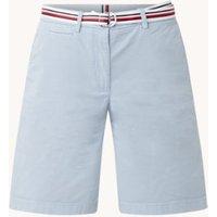 Tommy Hilfiger High waist straight fit korte broek in lyocellblend