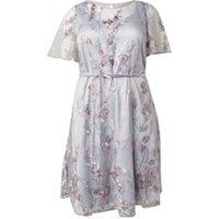 Studio 8 Kimi A-lijn jurk met mesh overlay en bloemborduring