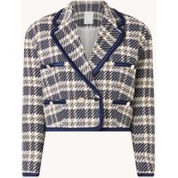Sandro Cropped blazer van tweed