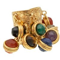 Sylvia Toledano Candies Faceted ring verguld