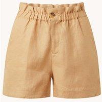 Scotch & Soda High waist loose fit korte broek van linnen met steekzakken