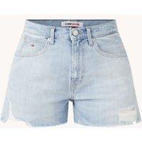 Tommy Hilfiger High waist straight fit korte spijkerbroek met ripped details