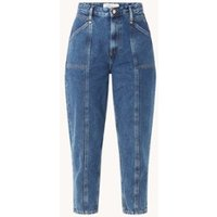 Tommy Hilfiger Mom high waist tapered fit cropped jeans met medium wassing