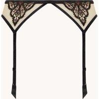 Aubade Coeurs Enlaces jarretels van mesh met kantborduring
