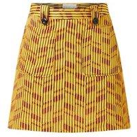 Damsel in a Dress Doria Textured Skirt Yellow/Re
