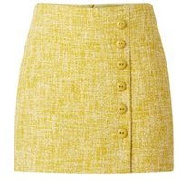 Damsel in a Dress Demelza Tweed Skirt Yellow 08