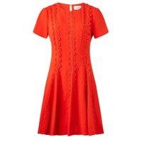 Damsel in a Dress Tavi Lace Dress Orange 08