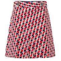 Damsel in a Dress Mindy Chevron Skirt Red/Multi