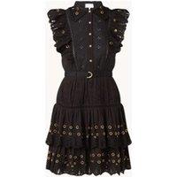 Damsel in a Dress Ana mini jurk met broderie en volant