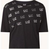 Emporio Armani Trainings T-shirt met metallic logoprint