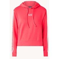 Emporio Armani Cropped hoodie met logoprint