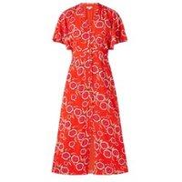 Whistles Ella midi jurk met vlindermouw en bloemenprint