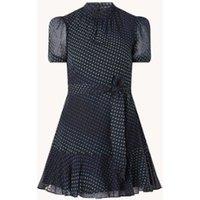 Whistles Gianna mini jurk met stippenprint en strikceintuur
