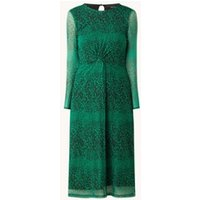 Whistles Midi jurk van mesh met panterprint