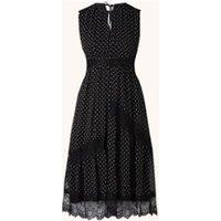 Whistles Midi jurk met stippenprint en kant
