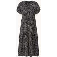 Whistles Gelaagde midi jurk met print en V-hals