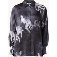 ALLSAINTS Oana Epoto blouse in zijdeblend met print