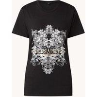 ALLSAINTS Vigeo Boyfriend T-shirt met metallic logoprint