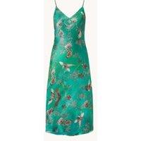 ALLSAINTS Melody midi jurk in zijdeblend met print