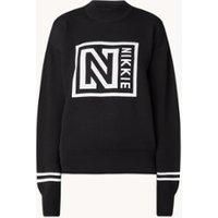NIKKIE Sweater met opstaande kraag en ingebreid logo