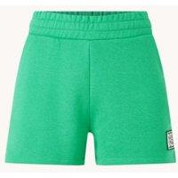 NIKKIE High waist straight fit korte joggingbroek met logo