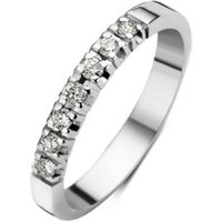 Diamond Point Witgouden alliance groeibriljant ring, 0-21 ct- 0-21 ct diamant Groeibriljant
