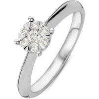 Diamond Point Ring van 14 karaat witgoud met 0-25 ct diamant Enchanted