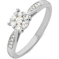 Diamond Point Ring van 14 karaat witgoud met 0-29 ct diamant Enchanted