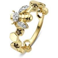 Diamond Point Gouden ring 0-10 ct rookkwarts Queen Bee