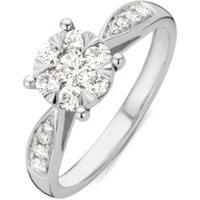 Diamond Point Ring van 14 karaat witgoud met 0-57 ct diamant Enchanted