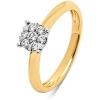 Diamond Point Gouden ring, 0-25 ct diamant, Enchanted