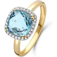 Diamond Point Geelgouden ring 3-17 ct topaas Fiësta
