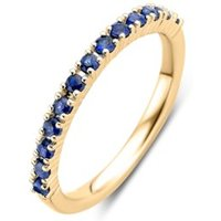 Diamond Point Geelgouden ring 0-37 ct blauwe saffier Ensemble