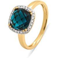 Diamond Point Geelgouden ring, 2-86 ct london topaas, Fiësta