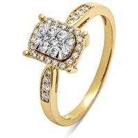 Diamond Point Gouden ring, 0-34 ct diamant, Enchanted