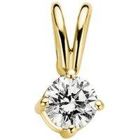 Diamond Point Geelgouden solitair groeibriljant hanger, 0-15 ct- 0-15 ct diamant Groeibriljant