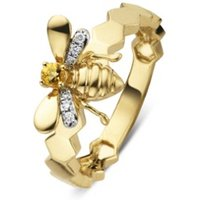 Diamond Point Gouden ring 0-06 ct citrien Queen Bee