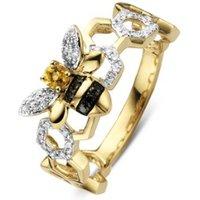 Diamond Point Gouden ring 0-07 ct citrien Queen Bee