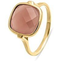 Diamond Point Geelgouden ring, 3-50 ct chalcedoon, Earth