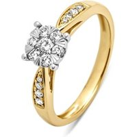 Diamond Point Gouden ring, 0-35 ct diamant, Enchanted