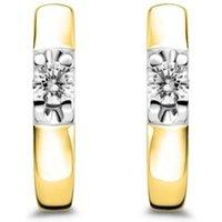 Diamond Point Gouden solitair oorstekers, 0-16 ct diamant, Groeibriljant
